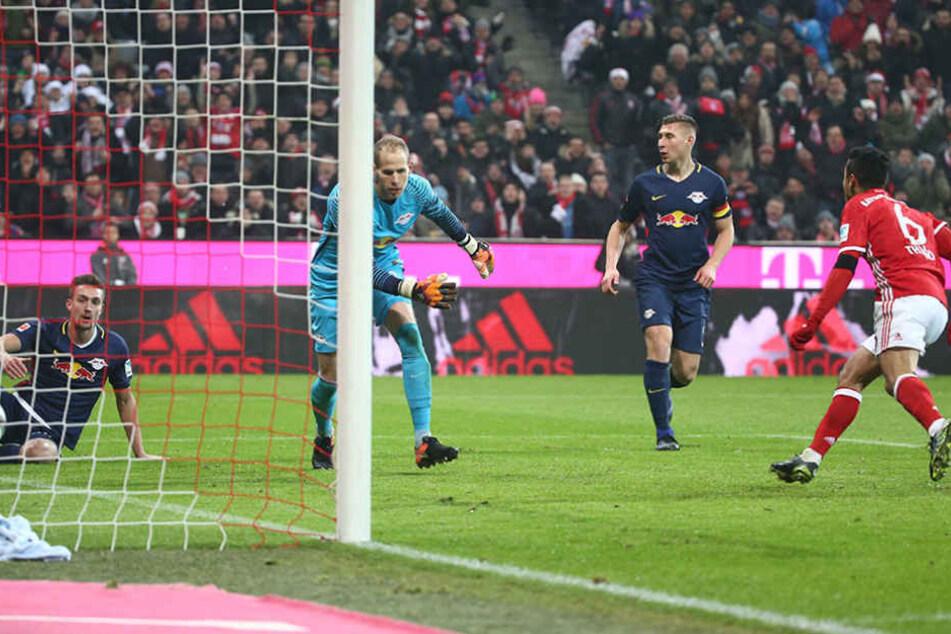 Thiago Alcántara legte für die Bayern vor: Traf in der 17. Minute zum 1:0.