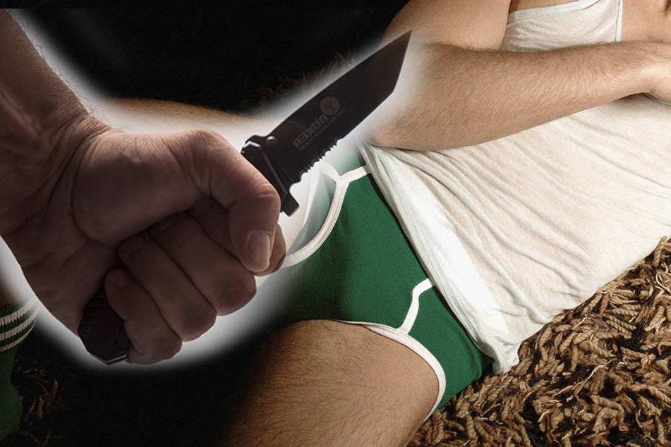 Mit einem Messer schnitt der Angeklagte seinem 53-jährigen Opfer den Penis ab. (Symbolfoto)