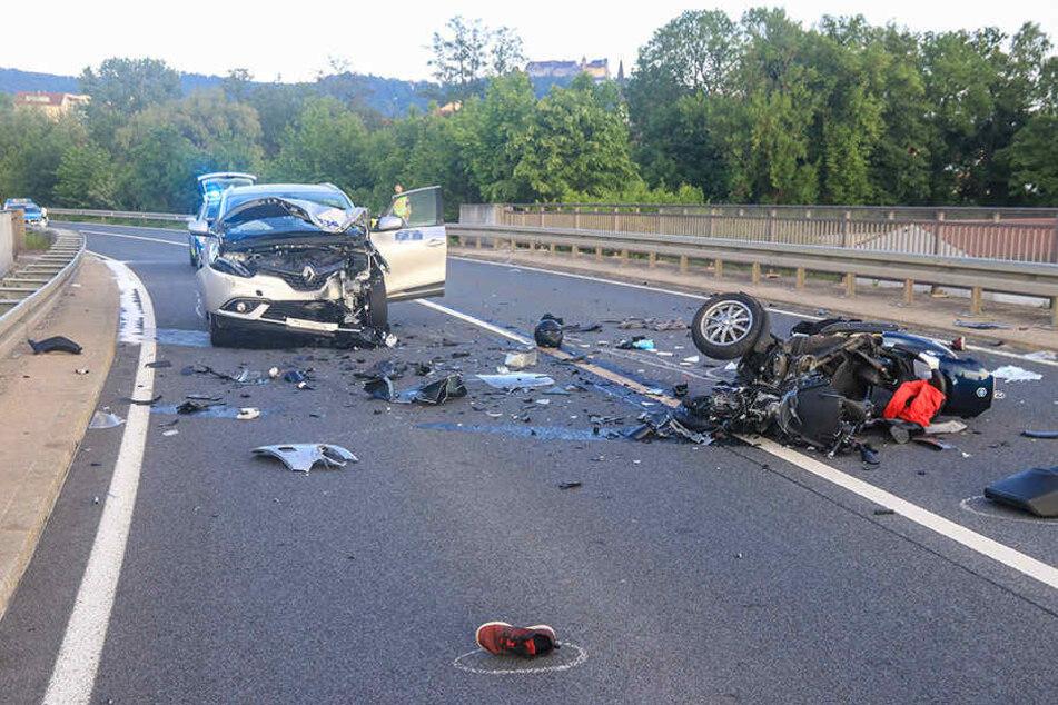 Der Fahrer des Rollers kam bei dem Unfall ums Leben.
