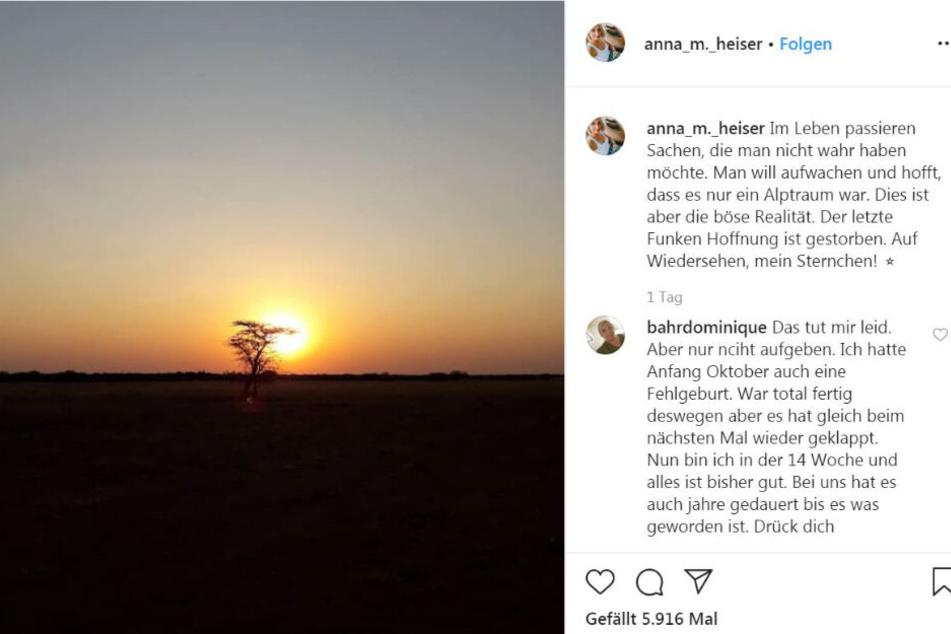 So traurig nahm Anna Abschied.