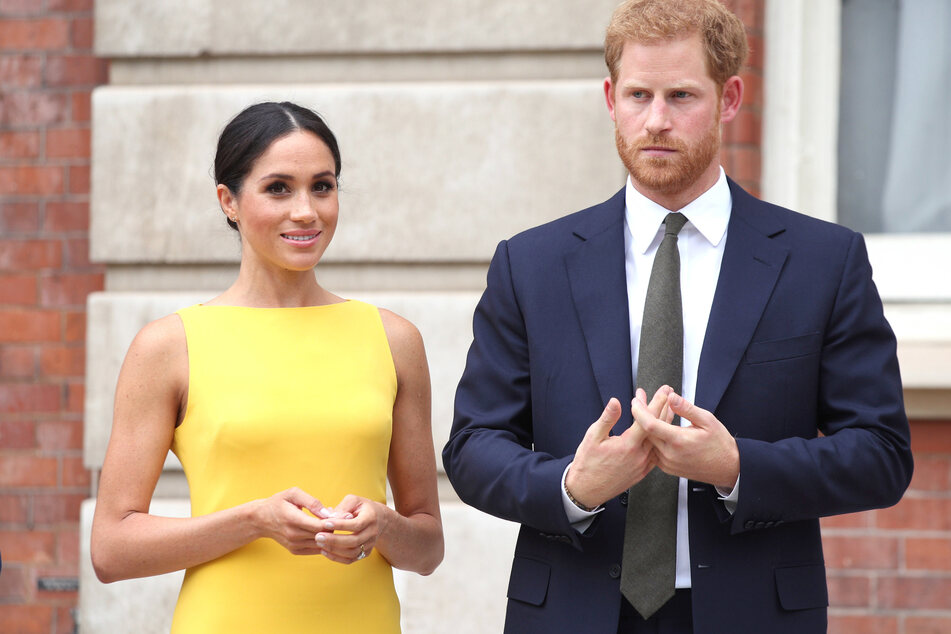Herzogin Meghan (39, l.) und Prinz Harry (36, r.).