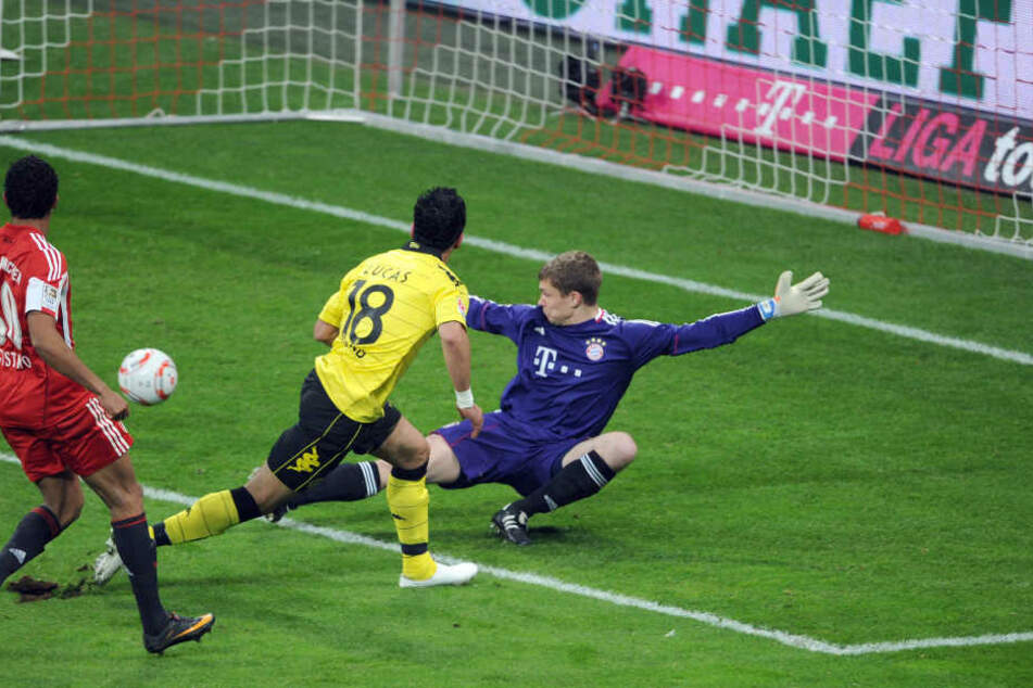 Thomas Kraft: Hier noch im Bayern-Trikot gegen Dortmund im Einsatz.
