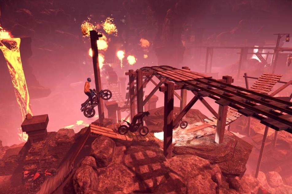 """Verglichen mit seinen Vorgängern wurden die Level sogar noch vielfältiger und abwechslungsreicher gestaltet. Ohnehin scheint Entwickler-Studio Redlynx mit der Prämisse """"Größer, Besser, Weiter"""" an """"Trials Rising"""" herangegangen zu sein."""