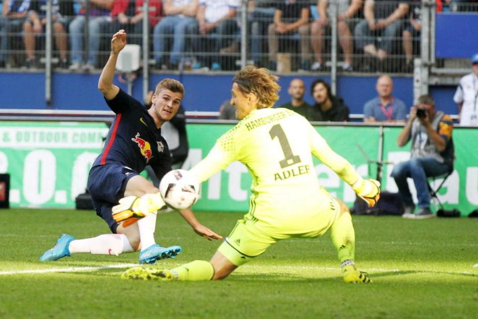 Einen seiner fünf Saison-Treffer erzielte Werner beim Hamburger SV.