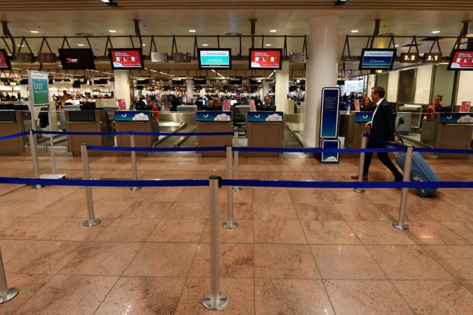 Die Terminals von Brussels Airlines bleiben am nächsten Mittwoch verwaist.