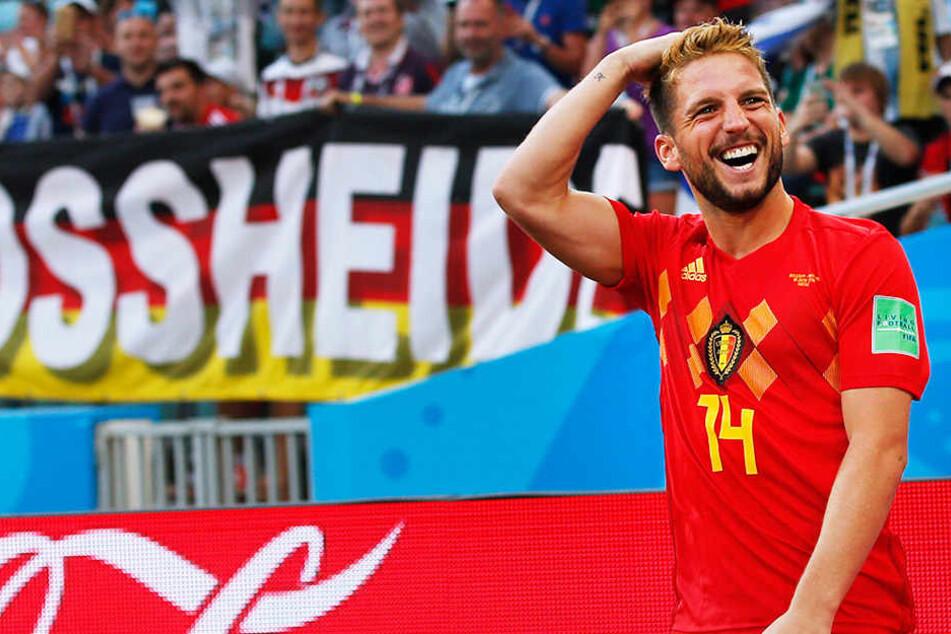 Dries Mertens erzielte das vorentscheidende 1:0 für Belgien mit einem traumhaften Volleyschuss.