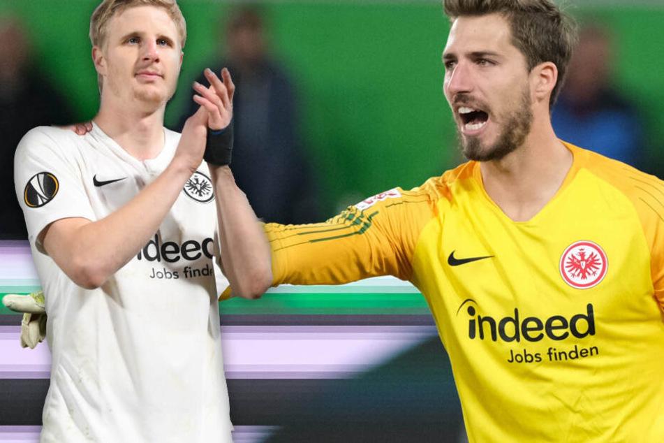 Fotomontage: Eintracht Frankfurt kämpft mit allen Mitteln um eine feste Verpflichtung von Martin Hinteregger (Li.) und Kevin Trapp.