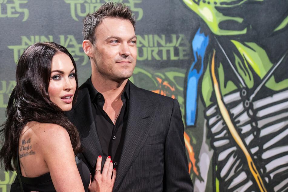 """Megan Fox (34) und Brian Austin Green (46) posieren vor der Deutschlandpremiere des Films """"Teenage Mutant Ninja Turtels""""."""