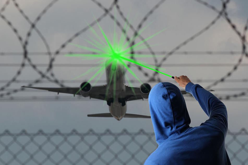 Ein Unbekannter hat den Piloten eines Passagierflugzeugs beim Landeanflug auf den Flughafen Luxemburg mit einem Laserpointer geblendet. (Symbolbild)