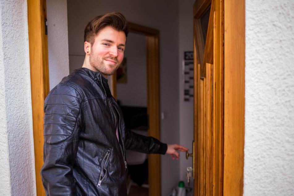 """Seit knapp zwei Jahren wohnt """"Mister Sachsen"""" alias Tobias Ritter (29) in der Leipziger Südvorstadt."""