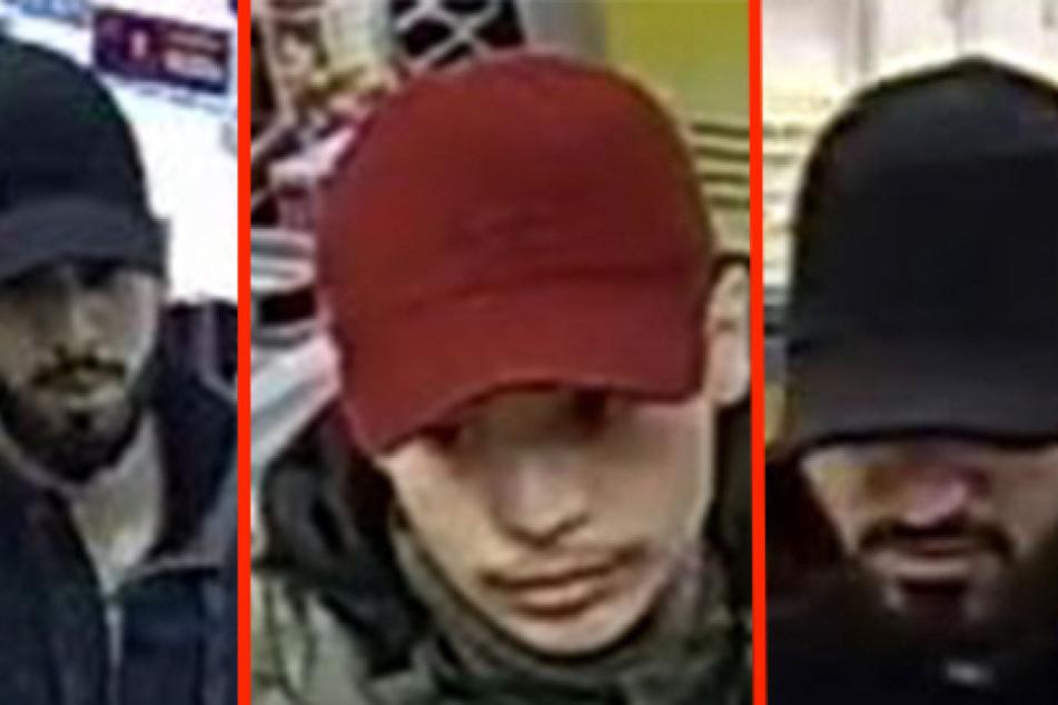 Tankstelle und Geschäfte überfallen - Tatverdächtige mit Bildern gesucht