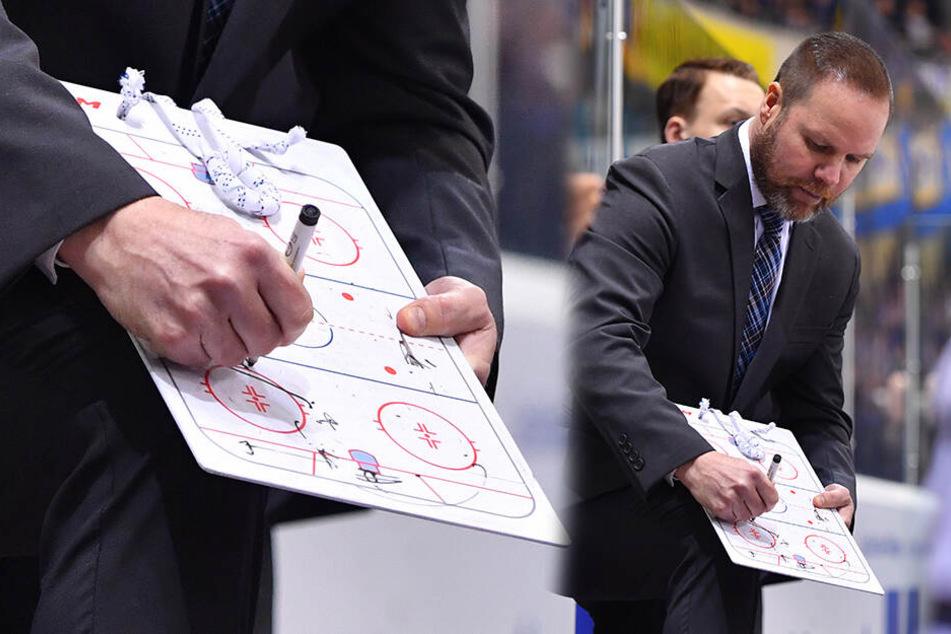 Eislöwen-Coach Bradley Gratton hatte seinem Team Lösungsvorschläge für mehr Offensiv-Power gezeigt, aber die Spieler brachten es nicht aufs Eis.