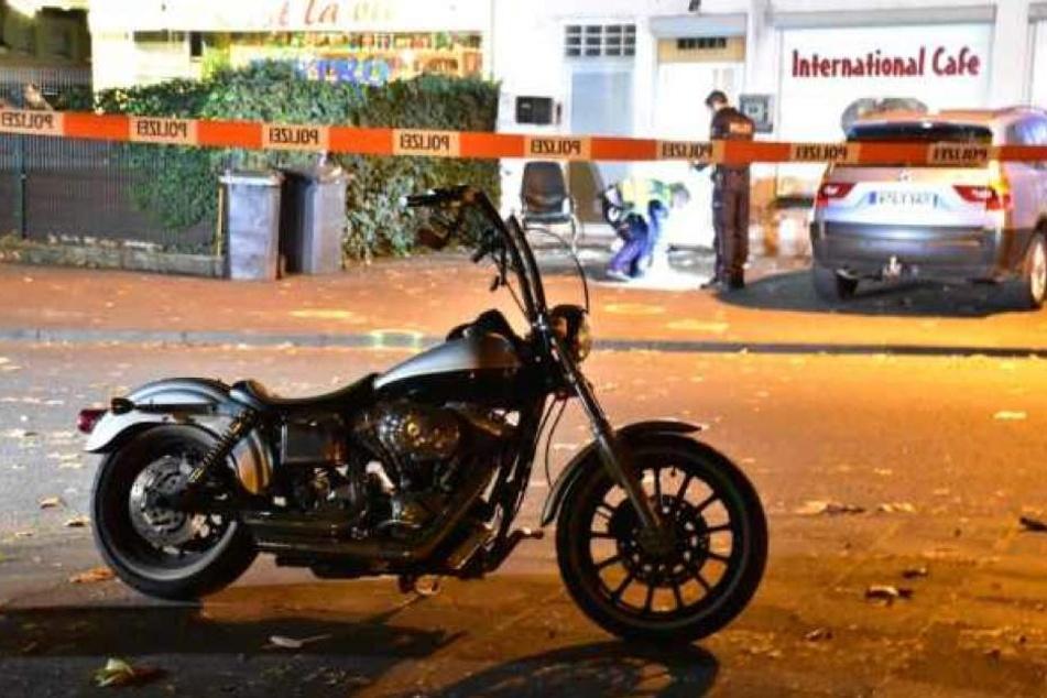 Der Tatort am Samstagabend. In der Nacht zu Dienstag fielen in der Nähe erneut Schüsse.