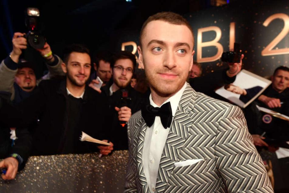 Der britischer Singer-Songwriter Sam Smith (27) bei der 69. Verleihung des Medienpreises Bambi. (Archivbild)