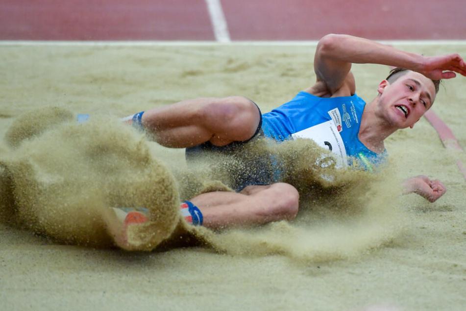 Max Heß konnte sich beim Hallenmeeting für die Europameisterschaften qualifizieren.