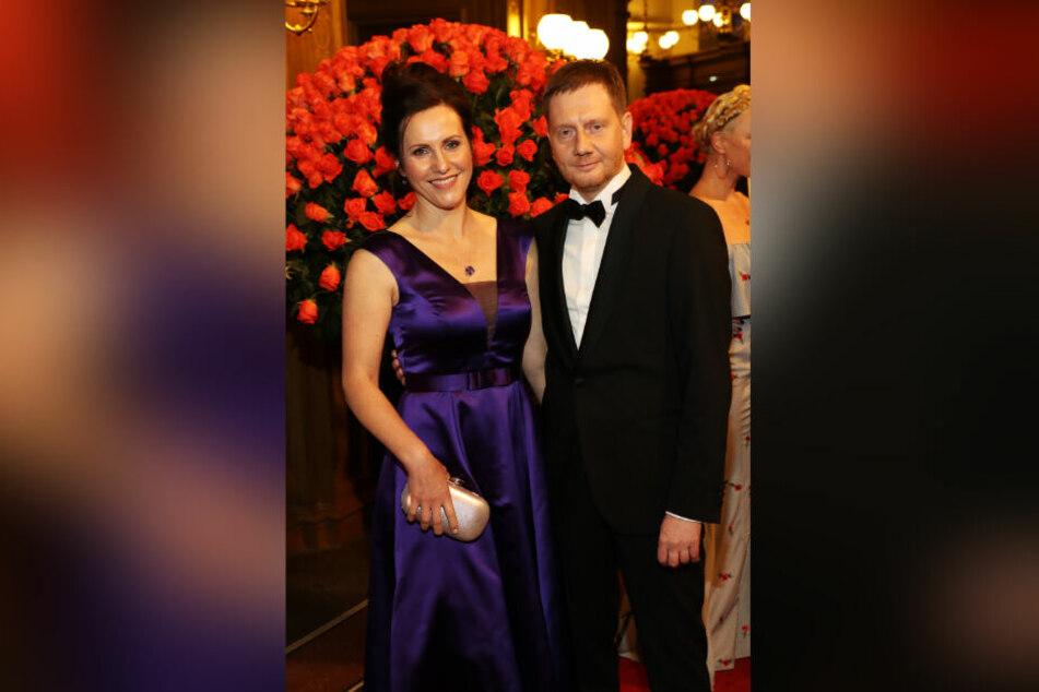 Sachsens MP Michael Kretschmer und seine Frau Annett Hofmann freuen sich trotz der Umstände auf den Tanzball.