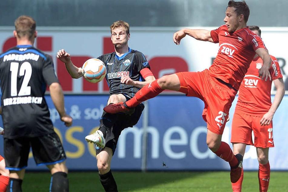 Spät gelang den Paderbornern der Ausgleich zum 1:1-Unentschieden.