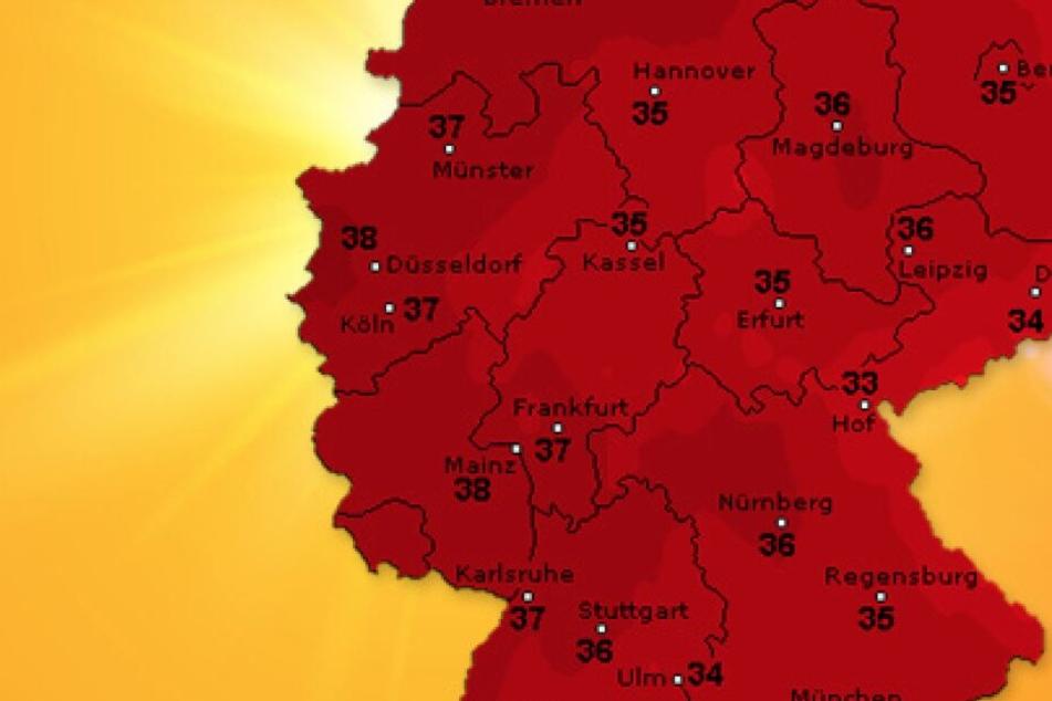 Die Wetterprognose von WetterOnline für den Donnerstag.