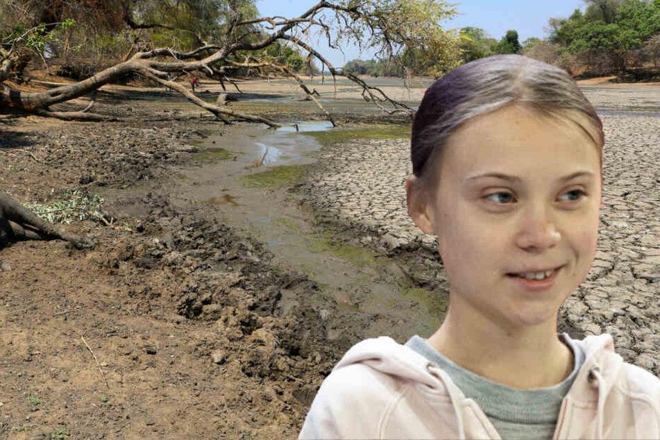 Dürren und Überschwemmungen: Greta Thunberg kämpft auch in Afrika fürs Klima