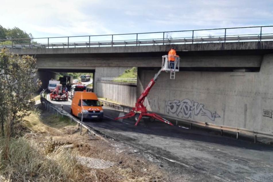 Am Donnerstag wurde die Autobahn und die Brücke am Dreieck Nossen überprüft.