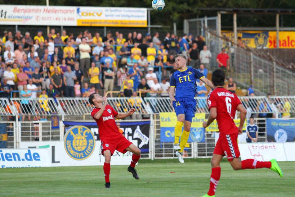 Lok Leipzig gewann durch zwei Kopfballtore in Fürstenwalde mit 2:0.