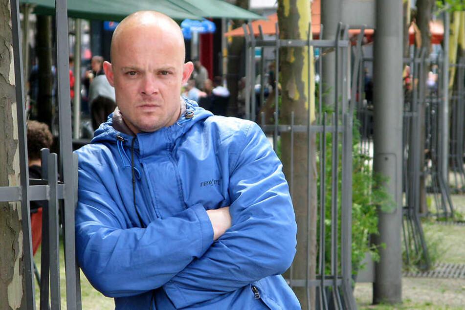 Marco Hoppe (33) erhebt schwere Vorwürfe gegen die Polizei.