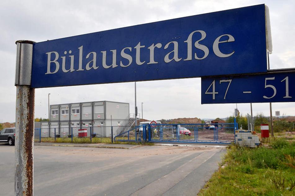 An der Bülaustraße stehen schon die Unterkünfte für die Bauarbeiter.