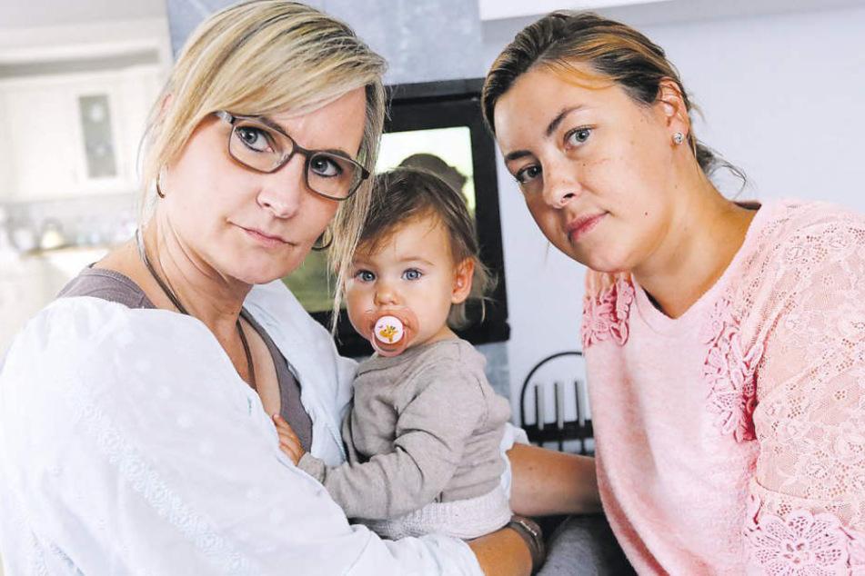 Julia Wolf (rechts), Mila und Stiefmutter Silke Siekmann haben erstmal genug von Krankenhäusern.