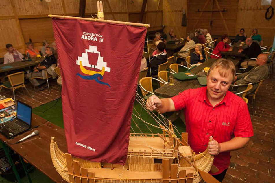 Das Modell für Abora IV: Damit will der Chemnitzer durchs Schwarze Meer segeln.