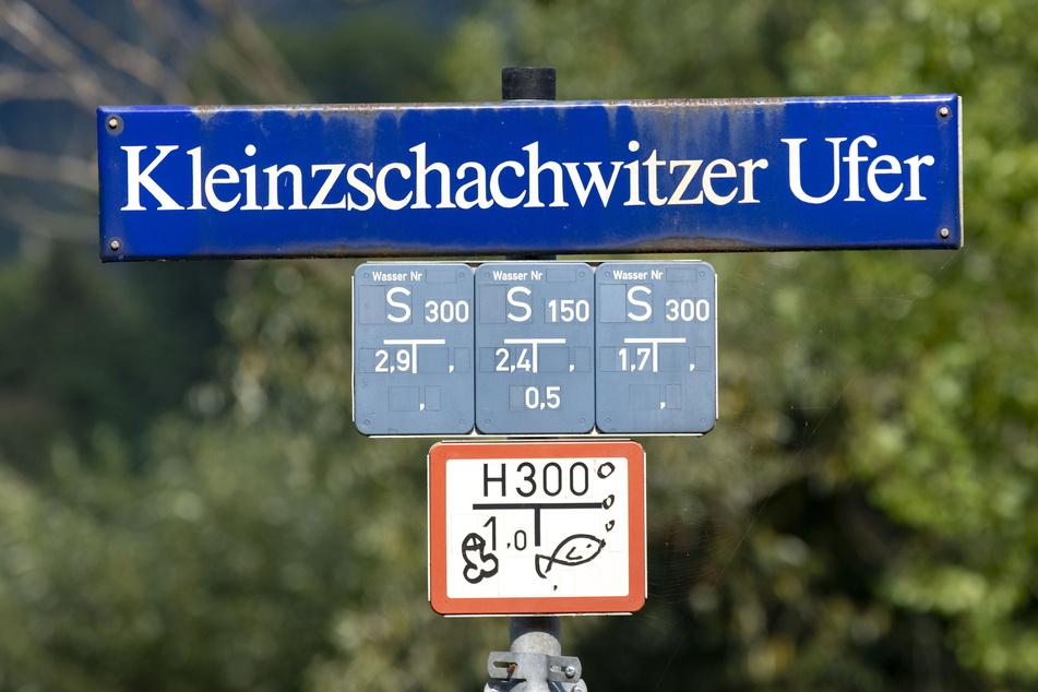 Am Kleinzschachwitzer Ufer entsteht gerade Dresdens erste Fahrradstraße