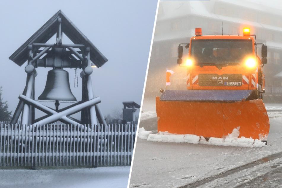 Mini-Wintereinbruch in Sachsen! Hier muss der Winterdienst anrücken