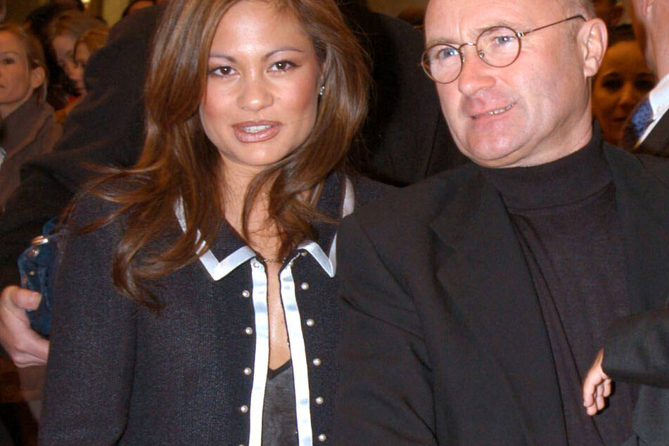 Orianne Cevey and Phil Collins in better times.