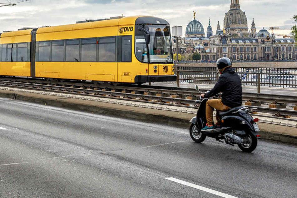 Seit dem ersten Dezember sagen Kinder einige der Haltestellen in Dresden an.