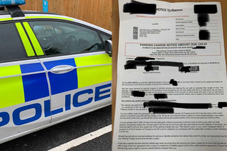 Polizisten bekommen während Einsatz Strafzettel und wüten auf Twitter