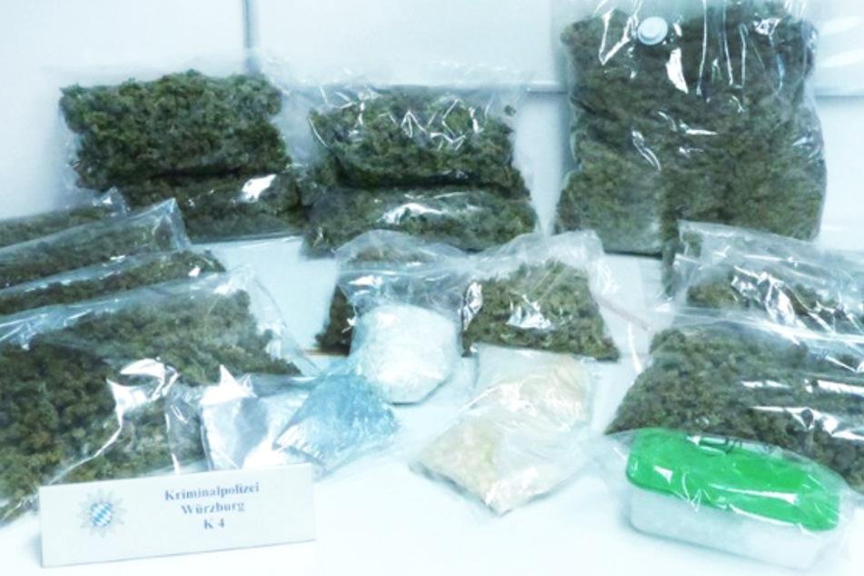 Unterfranken: Schlag gegen die Rauschgiftszene, Bargeld und kiloweise Drogen sichergestellt