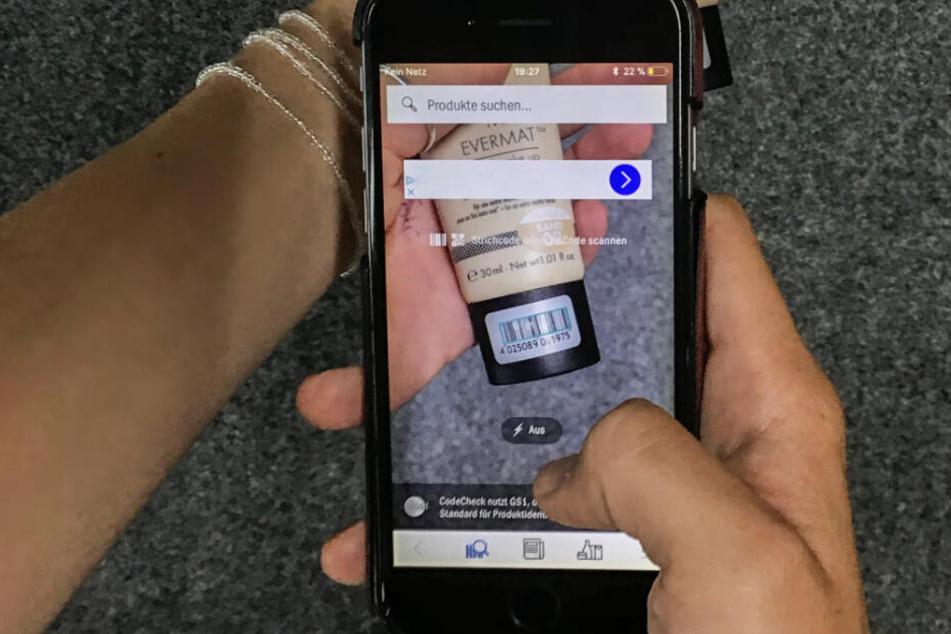 Die CodeCheck-App klärt über die Inhaltsstoffe von Produkten auf.