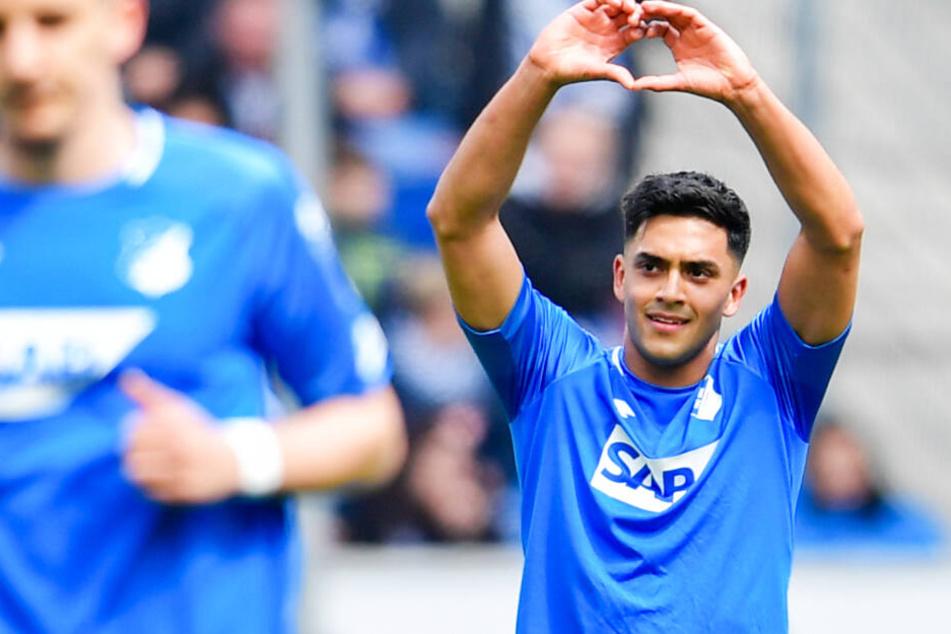 TSG-Torschütze Nadiem Amiri bejubelt seinen Treffer zum 1:0 (30.).