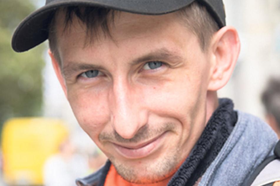 """Tobias Kopitz (31), Umschüler aus Dresden, will die Grünen wählen: """"Mir gefällt ihre Politik. Die Familienpolitik und die Arbeitspolitik sagen mir zu."""""""