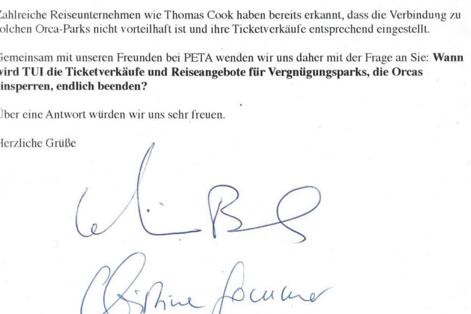 Offener Brief: Martin Brambach und Christiane Sommer erhöht den Druck auf den Reiseveranstalter TUI.