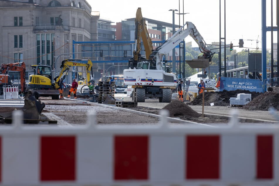 Baustellenchaos im Chemnitzer Zentrum: Bis 20. September gibt es Einschränkungen zwischen der Augustusburger Straße und der Reitbahnstraße.