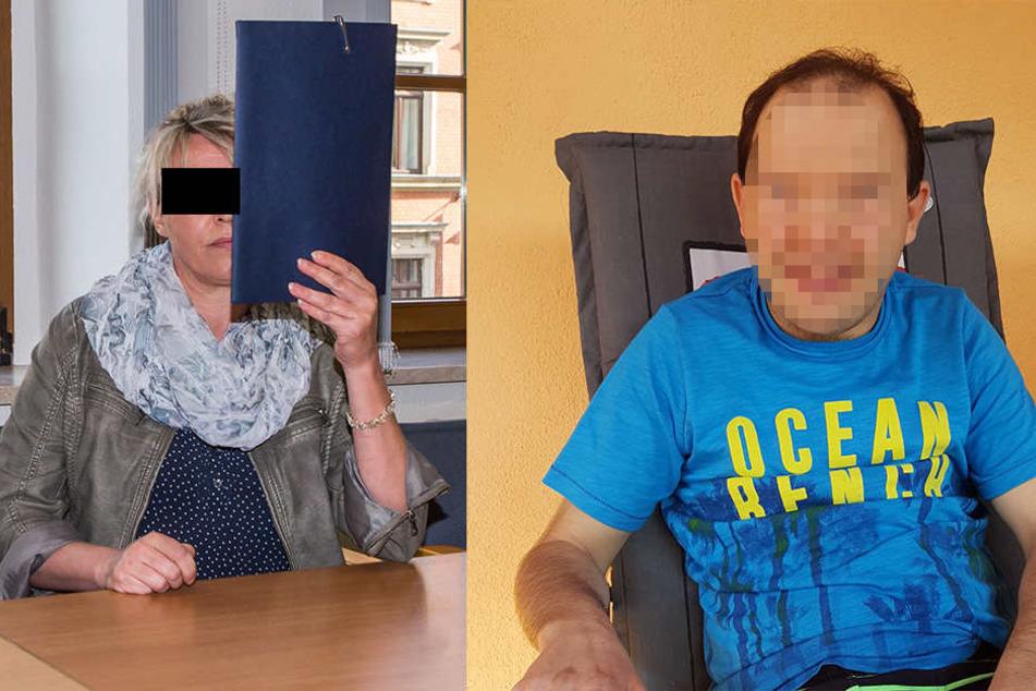 Beatrice R. (47, l.) quälte ihren Schutzbefohlenen Daniel (37, r.) mit scharfem Senf.