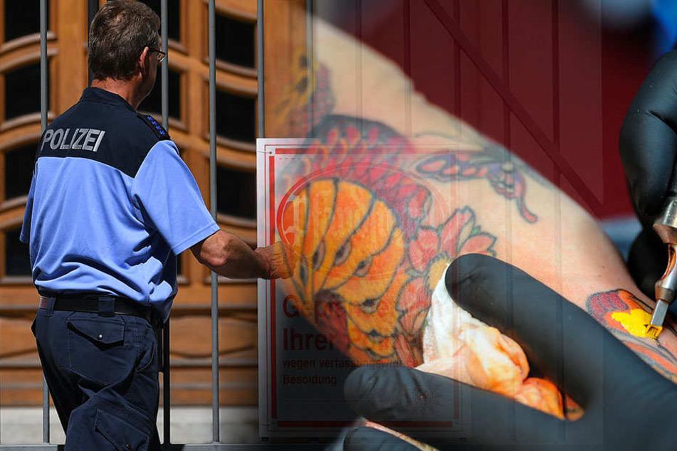 Berlins Polizisten müssen ihre Tattoos am Arm nicht mehr verdecken. Dennoch wurde ein Bewerber abgelehnt.