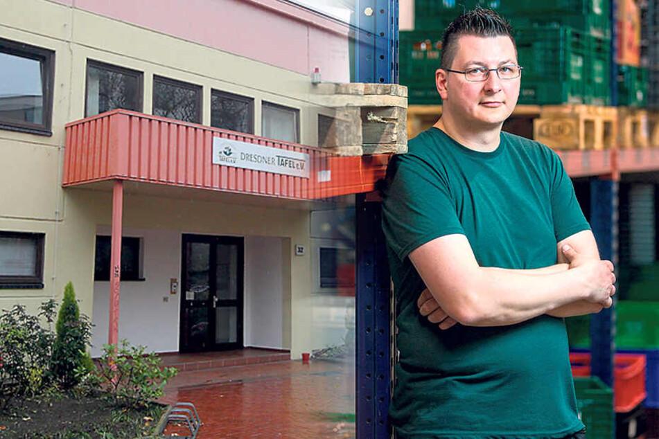 Der Chef der Dresdner Tafel, Andreas Schönherr (40), steht in der Kritik.