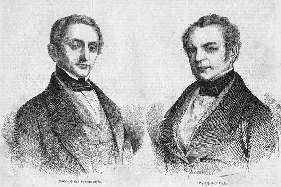 Links: Gottfried Jordan (1791 - 1860). Rechts: Friedrich August Timaeus (1794 - 1875).
