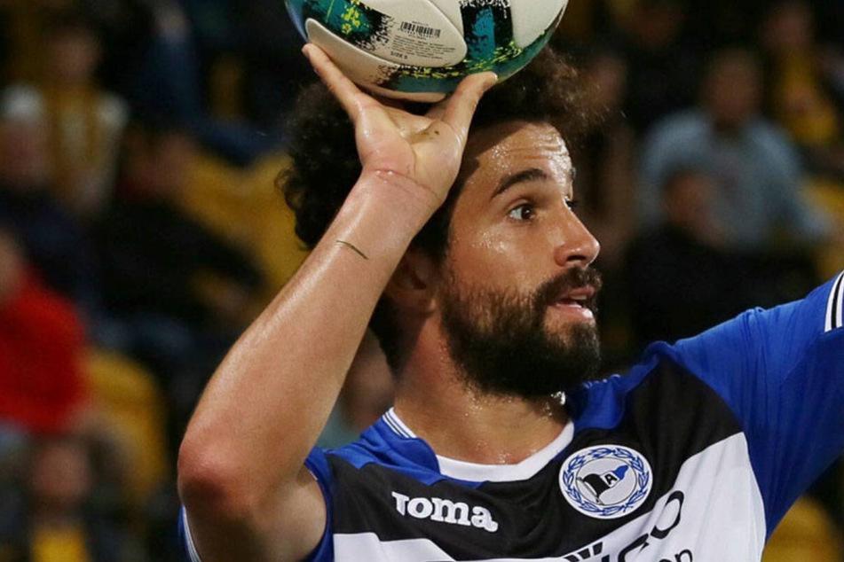 Der Auftritt von Nils Teixeira mit Bielefeld im vergangenen Sommer dürfte vorerst sein letzter im DDV-Stadion gewesen sein.