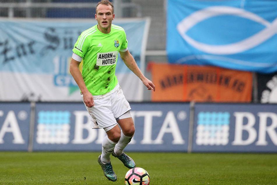Innenverteidiger Julius Reinhardt, zuletzt zwei Mal in der Startelf, will mit dem CFC in Erfurt die Erfolgsserien ausbauen.