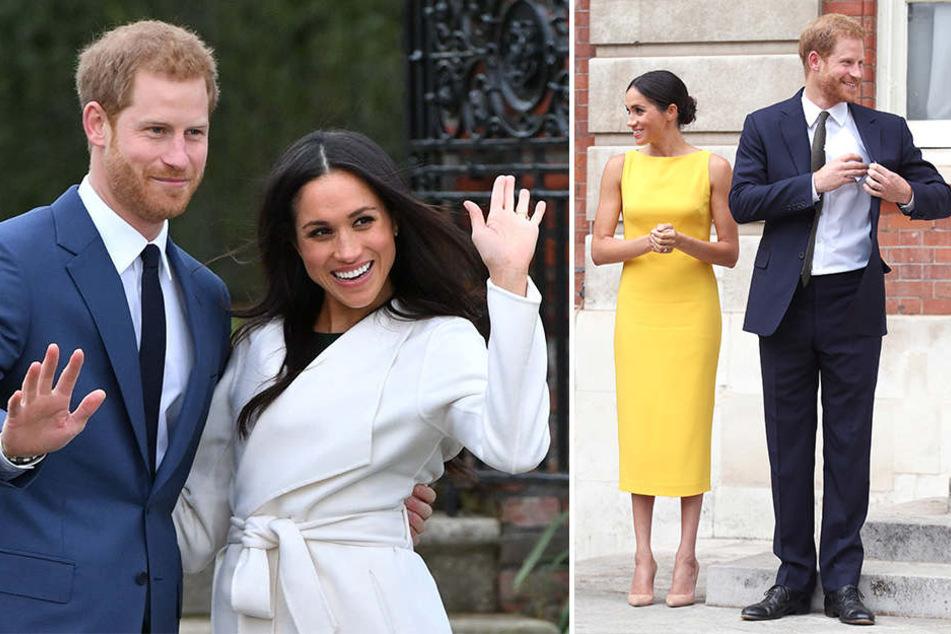 """Harry und Meghan kurz nach ihrer Verlobung und beim Empfang der """"Youth Commonwealth"""" in dieser Woche."""