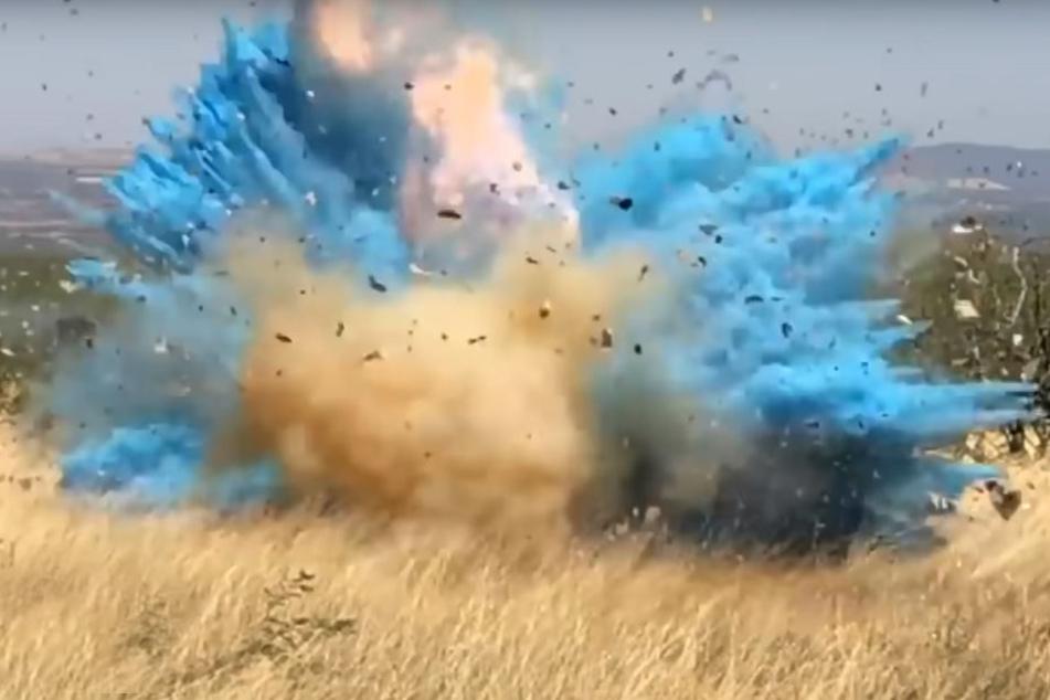 Bei dieser Explosion war klar: Es wird ein Junge!