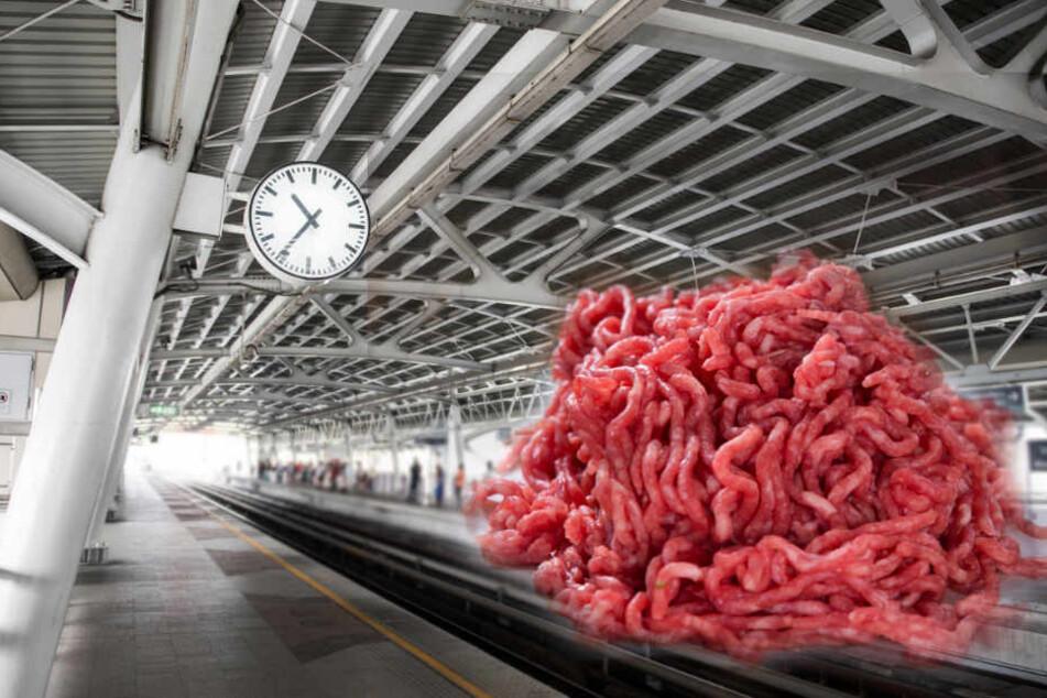 Mysteriös: An diesem Bahnhof liegt jeden Montag Hackfleisch rum