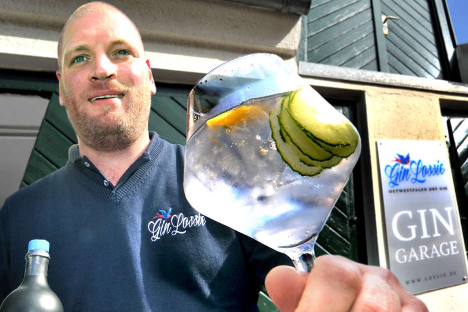Marcel Lossie ist der Gründer von Gin Lossie und RÜBE Vodka. Nun sponsert er eine fette WG-Sause.